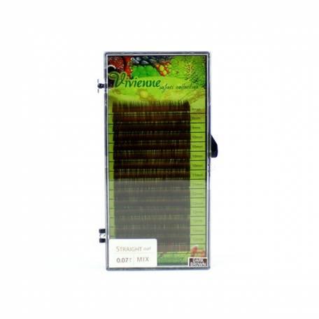 Купити Вії для нарощування Elite Safari Collection коричневі mix (8-14) 0.07 мм