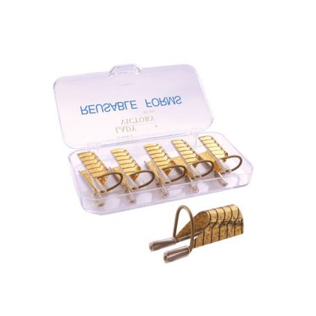 Купити Форми для нарощування нігтів багаторазові Y.R.E. металеві (5 шт)