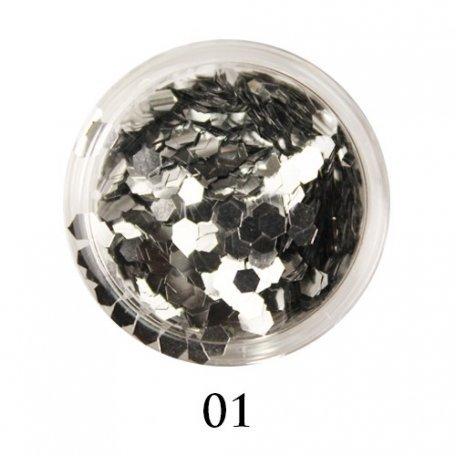 Конфетти для декора ногтей - Блестки-диаманты Adore 2 мм №01