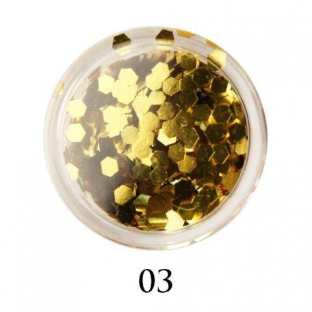 Конфетти для декора ногтей - Блестки-диаманты Adore 2 мм №03
