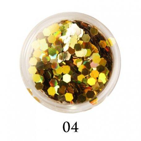 Конфетти для декора ногтей - Блестки-диаманты Adore 2 мм №04