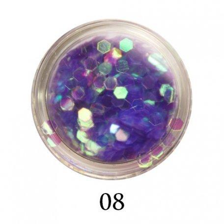 Конфетти для декора ногтей - Блестки-диаманты Adore 2 мм №08