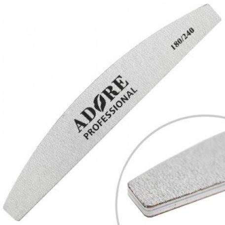 Пилки для ногтей - Пилка для ногтей Adore Professional 180/240 Полукруг