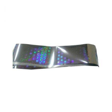 Фольга для литья серебряный голографик, кристалл 1м., F15