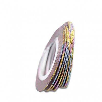 Лента бархатная для ногтей, цвет mixed color, 1 мм