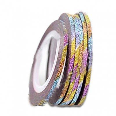 Лента бархатная для ногтей, цвет mixed color, 2 мм