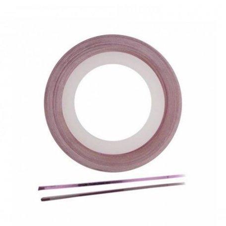 Лента для ногтей - Лента широкая для ногтей  (розовая), 3 мм