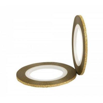 Бархатная лента для ногтей (золото), 2 мм