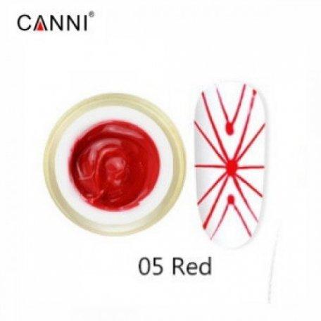 Купити Гель-павутинка Canni Spider Gel / 3D Embossing gel - 05 червоний 8 мл