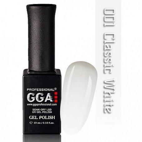 Гель-лаки GGA Professional, 10 мл - Гель-лак GGA №001 Classic White, 10 мл