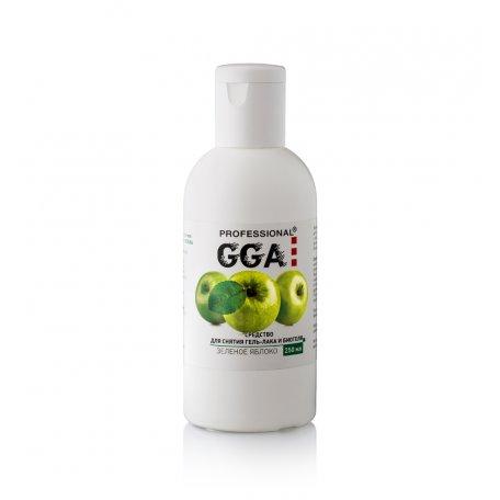 Базы, топы, вспомогательные средства GGA - Средство для снятия гель-лака GGA Professional 250 мл (Яблоко)
