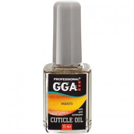 Базы, топы, вспомогательные средства GGA - Масло для кутикулы GGA Professional Манго, 15 мл