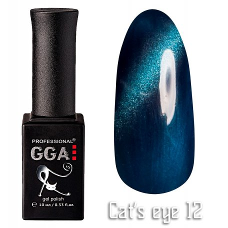 Гель-лак GGA Cat's eye №012 (Синий), 10 мл