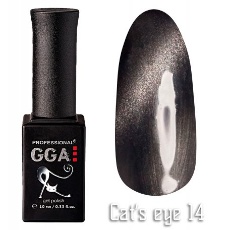 Гель-лак GGA Cat's eye №014 (Серый), 10 мл