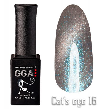 Гель-лак GGA Cat's eye №016 (Серый), 10 мл