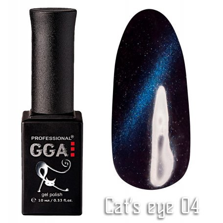 Купить Гель-лак GGA Cat's eye №004 (Синий с перламутром), 10 мл