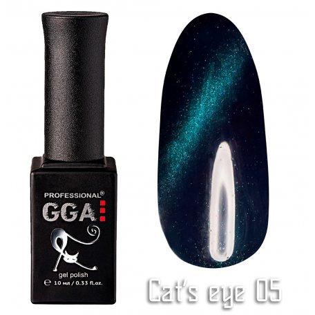 Купить Гель-лак GGA Cat's eye №005 (Бирюзовый), 10 мл