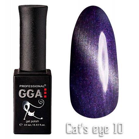 Купить Гель-лак GGA Cat's eye №010 (Фиолетовый), 10 мл