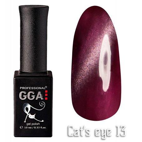 Купить Гель-лак GGA Cat's eye №013 (Вишневый), 10 мл
