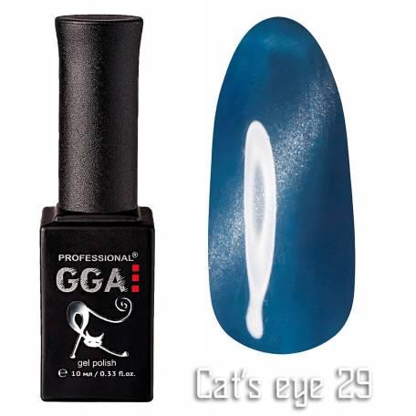 Купить Гель-лак GGA Cat's eye №029 (Голубой с перламутром), 10 мл