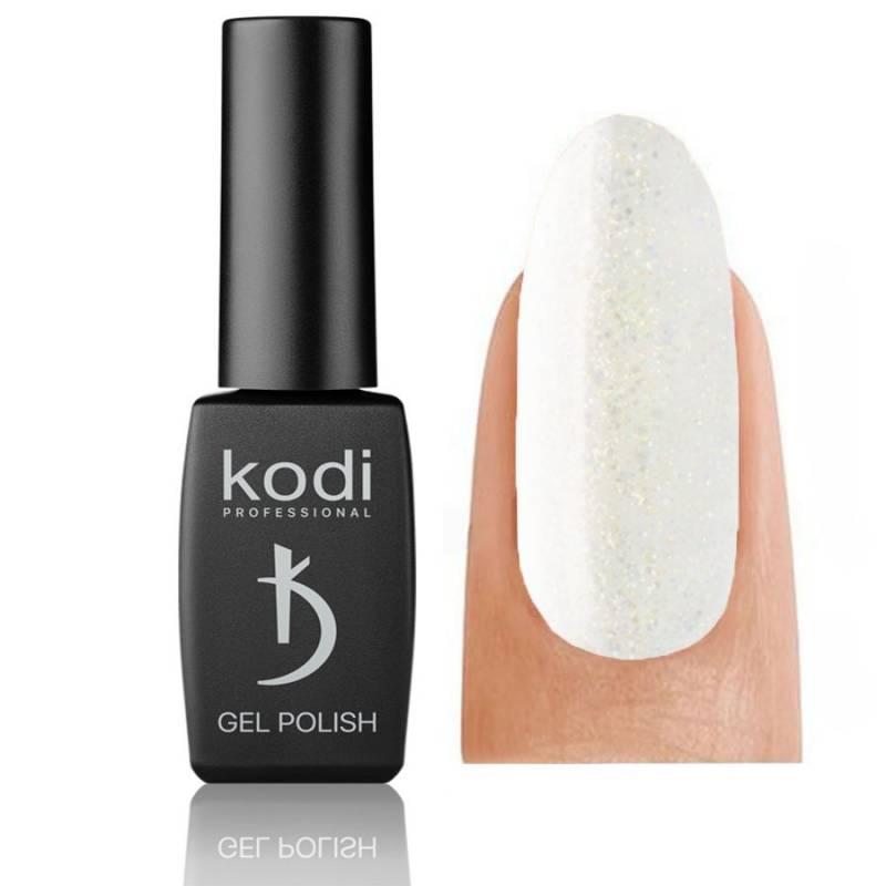 Купить Гель-лак Kodi №035 SH (Белый с золотыми блестками), 8 ml