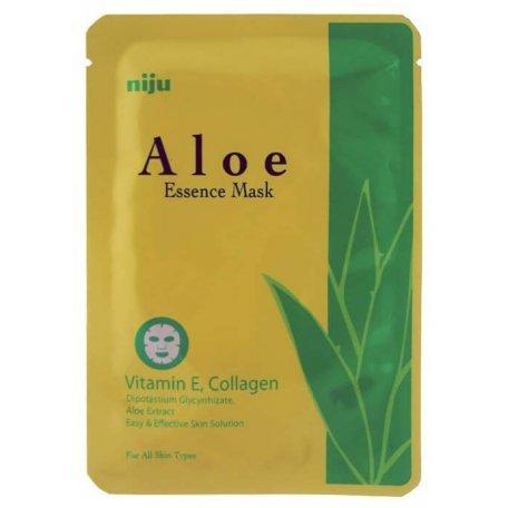 Купить Маска-салфетка для лица KONAD Aloe Essence Mask увлажняющая 17мл