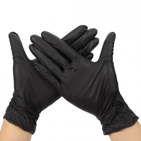 Перчатки - Перчатки нитриловые неопудренные ПРОЗРАЧНЫЕ размер small 1 пара