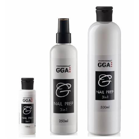 Купити Засіб для зняття липкого шару, дезінфекції та знежирення нігтів GGA Nail Prep 3 in 1