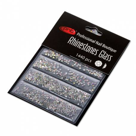 Купить Стразы для дизайна ногтей PNB,  AB mix size 1440 шт