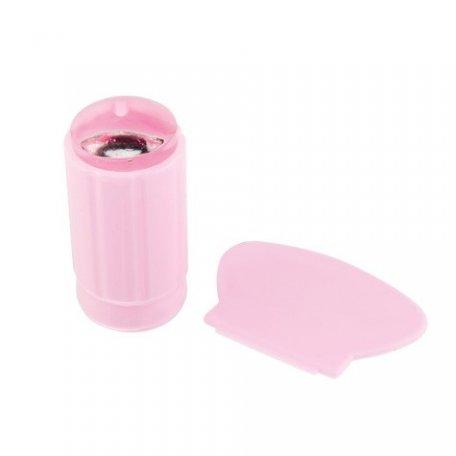 Инструменты для стемпинга - Прозрачный штамп и шкрапер для стемпинга (розовый)