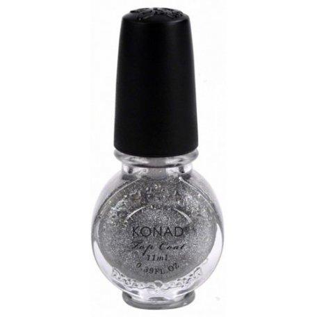 Купить Финишное покрытие для стемпинга Konad Special Top Glitter Silver серебряный с блестками 11 мл