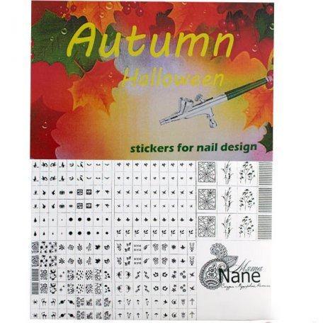 "Трафареты для аэрографии - Трафареты-наклейки для nail-art ""Осень"""