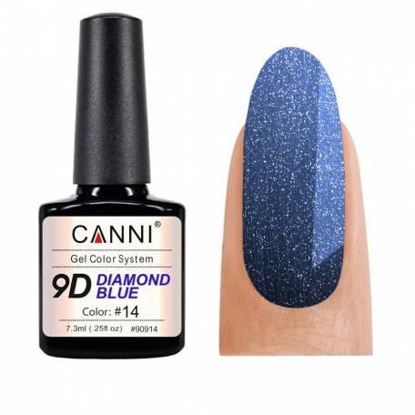 Купить Гель-лак Canni 9D Diamond Blue 014, 7,3 мл