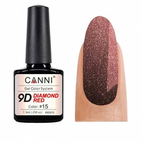 Купить Гель-лак Canni 9D Diamond Red 015, 7,3 мл