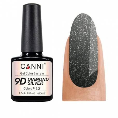 Купить Гель-лак Canni 9D Diamond Silver 013, 7,3 мл
