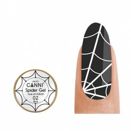 Купить Гель-паутинка Canni Spider Gel / 3D Embossing gel - 02 белый 8 мл
