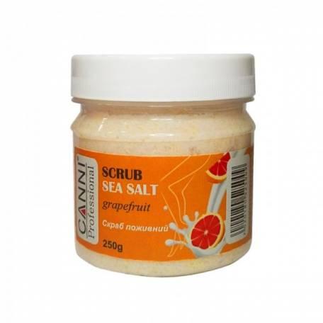 Купить Солевой скраб Canni морская соль, грейпфрут и масло ШИ 250 мл