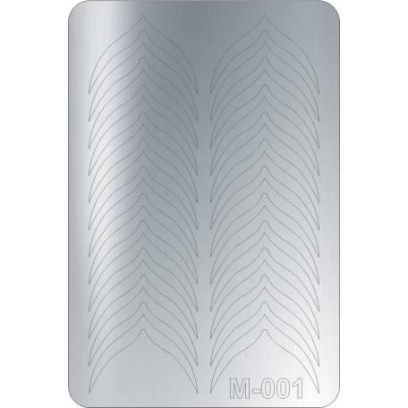 Купити Металізовані наклейки для нігтів Canni 001 (срібло)
