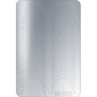 Металлизированные наклейки для ногтей Canni 003 (серебро)
