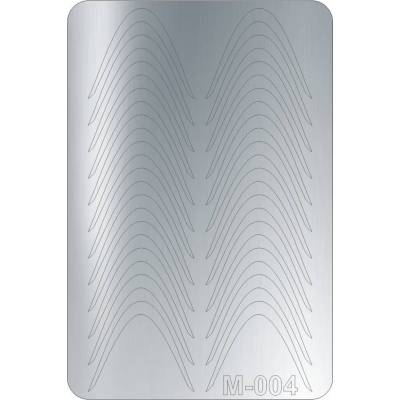Металлизированные наклейки для ногтей Canni 004 (серебро)