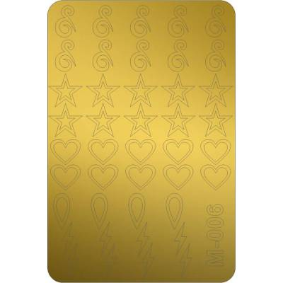 Металлизированные наклейки для ногтей Canni 006 (золото)