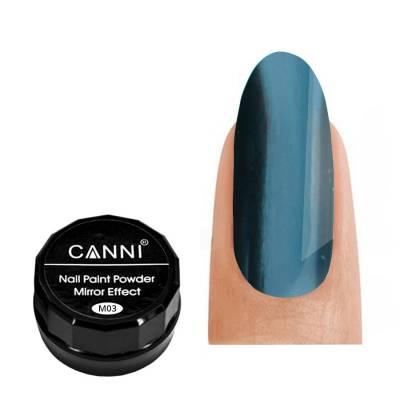 Зеркальная пудра CANNI 003 (аквамарин), 2 г