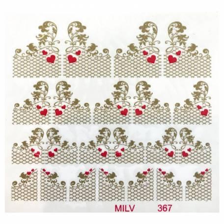 Купити Слайдер дизайн для нігтів Milv 367