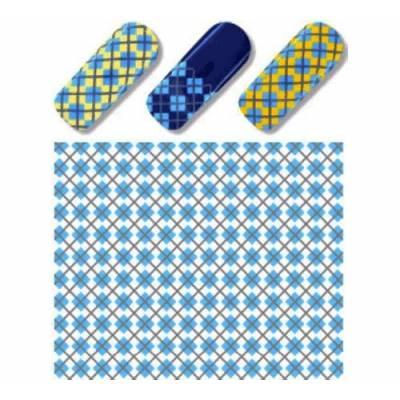 Слайдер дизайн для нігтів S 135 Блакитний