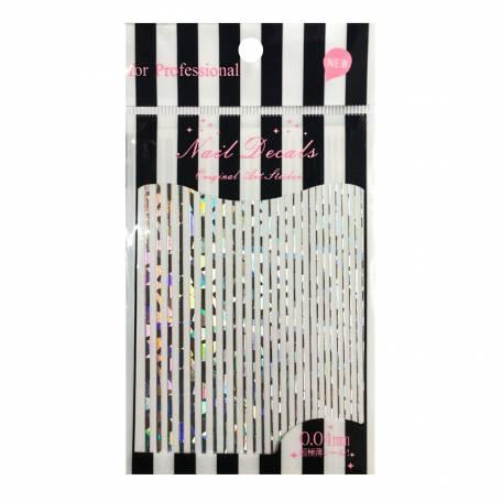 Купити Гнучка стрічка для дизайну нігтів YRE Срібло абстракція