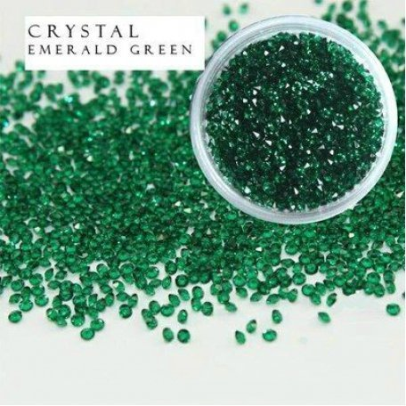 Купить Стразы Y.R.E. Crystal Pixie Emerald Green 1,1 мм, 0,5 г