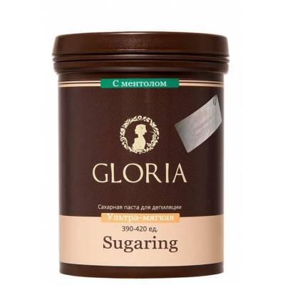 Cахарная паста для эпиляции Gloria средняя с ментолом 1800 мл