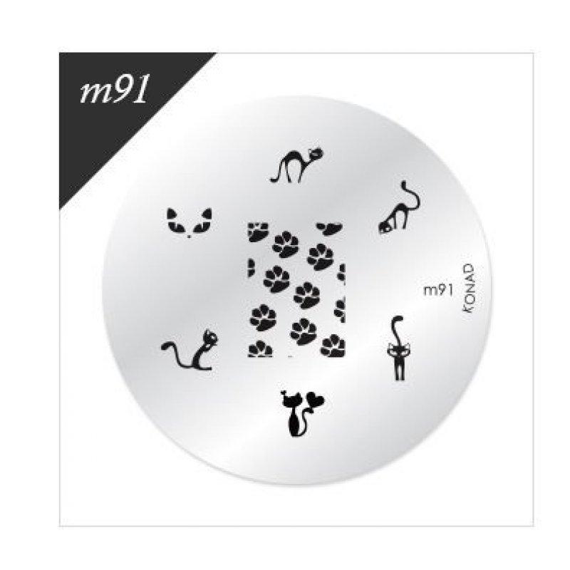 Диск для стемпинга Konad М 91 купить интернет-магазине Nailsmania.ua с бесплатной доставкой по Украине.