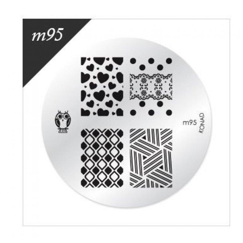 Диск для стемпинга Konad М 95 купить интернет-магазине Nailsmania.ua с бесплатной доставкой по Украине.