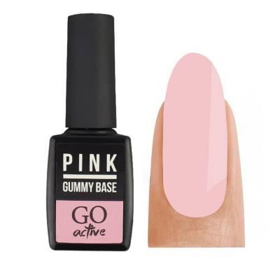 База камуфлирующая каучуковая для гель-лака GO Active Gummy Base Coat №03 Pink 10 мл